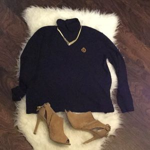 Lauren Ralph Lauren Navy Blue Turtleneck